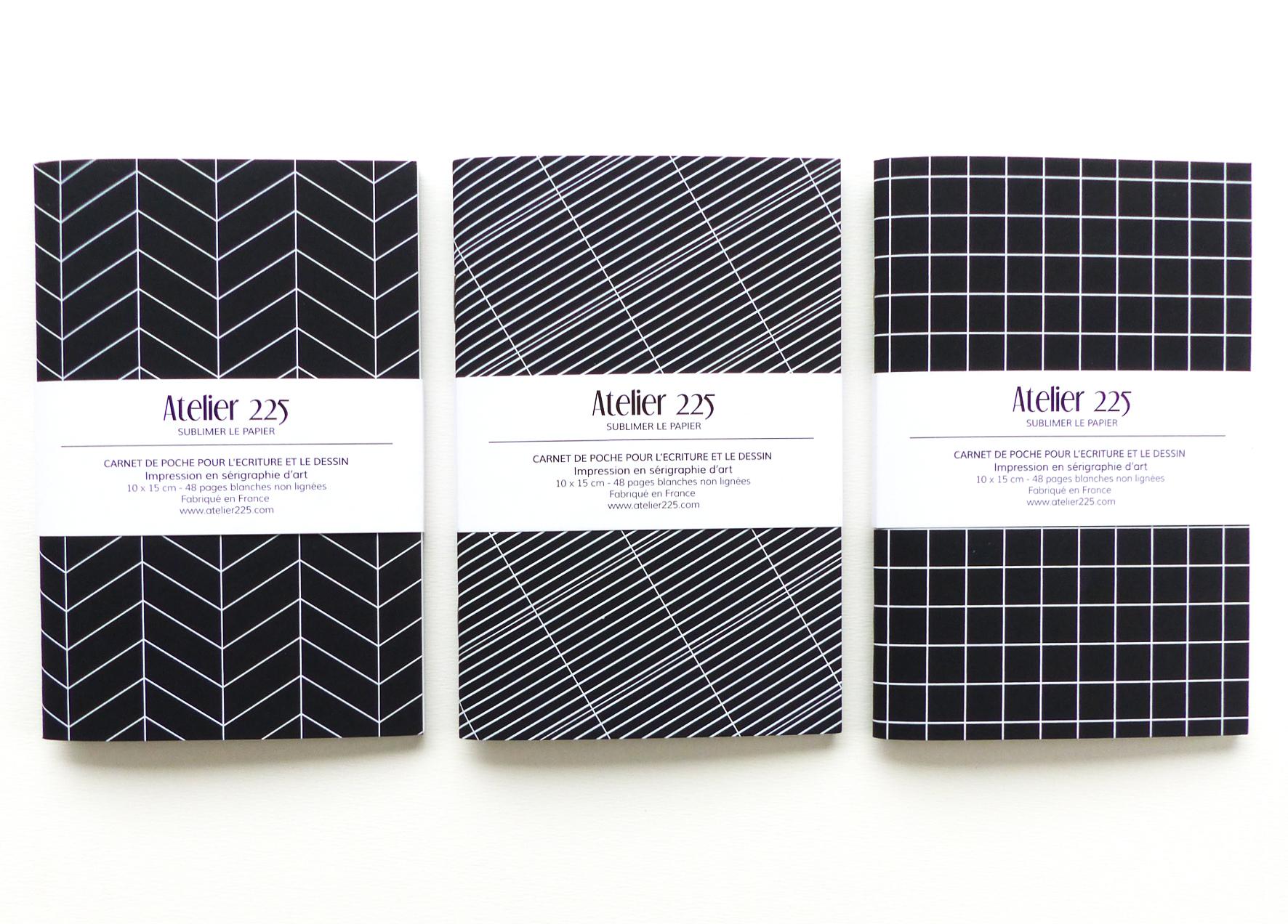 atelier-225-papeterie-ecologique-geometrique-papier-noir-et-blanc