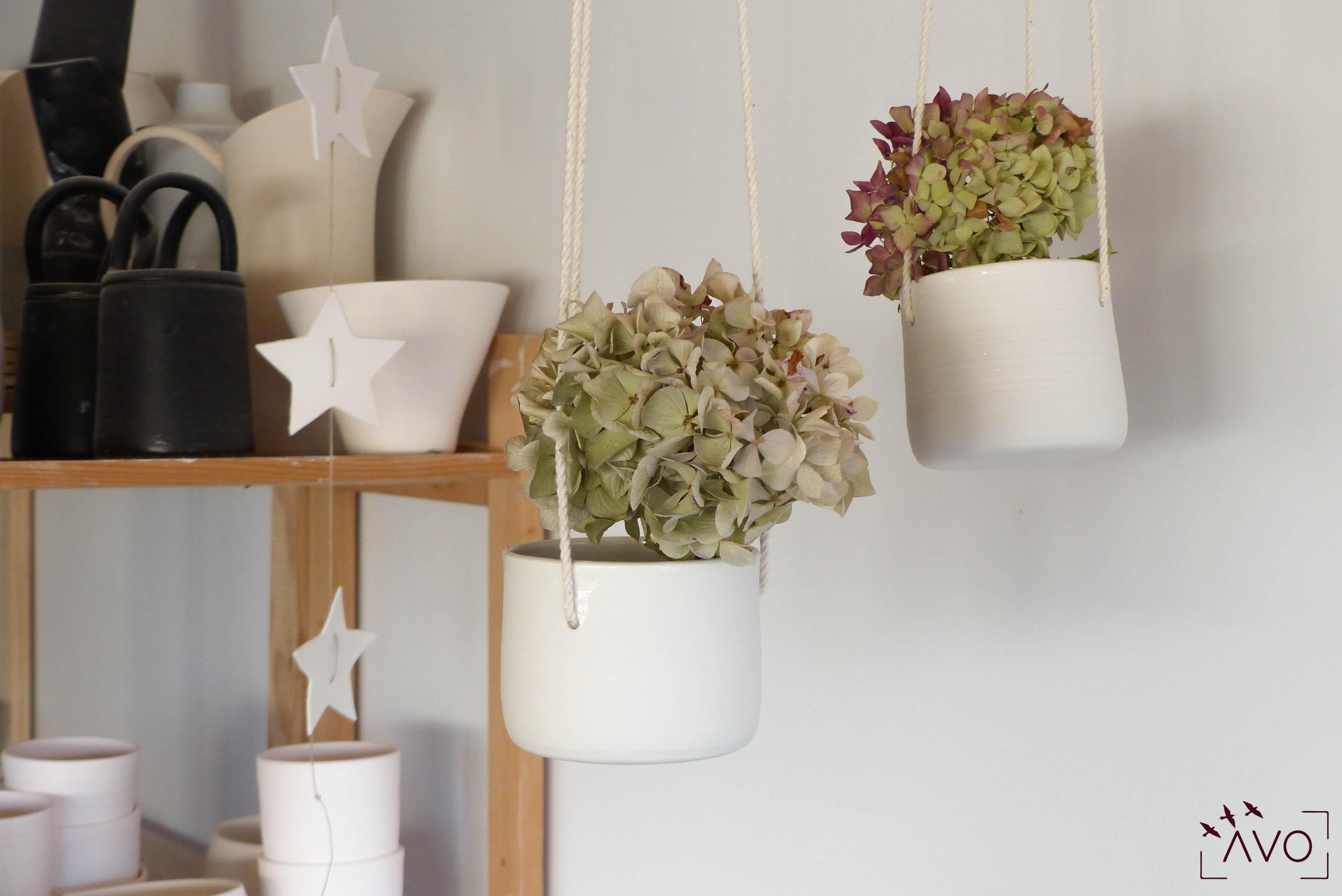 atelier hortense motarnal lyon poterie céramique fait main made in france déco design maison porte plante
