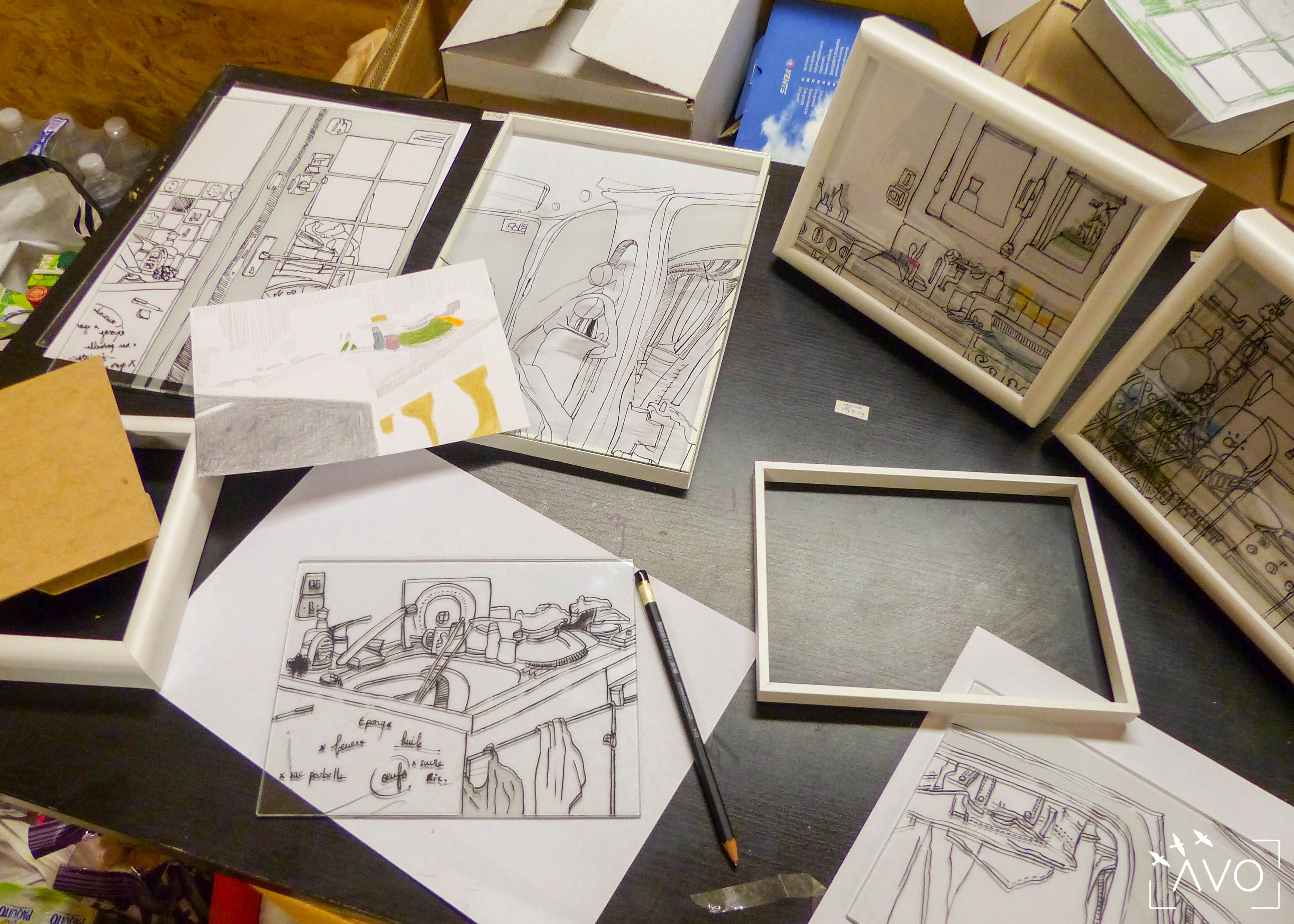 julia robert atelier verre dessin graphisme