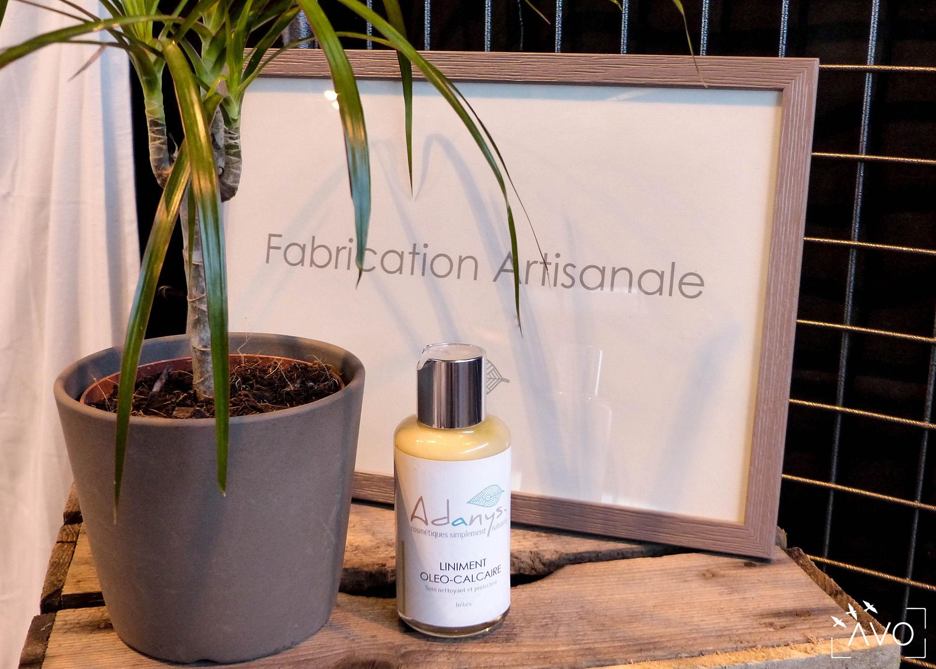 adanys cosmétiques liniment bain lingette huiles essentielles soin ingrédients biologiques auvergne bio crème huile contenant verre
