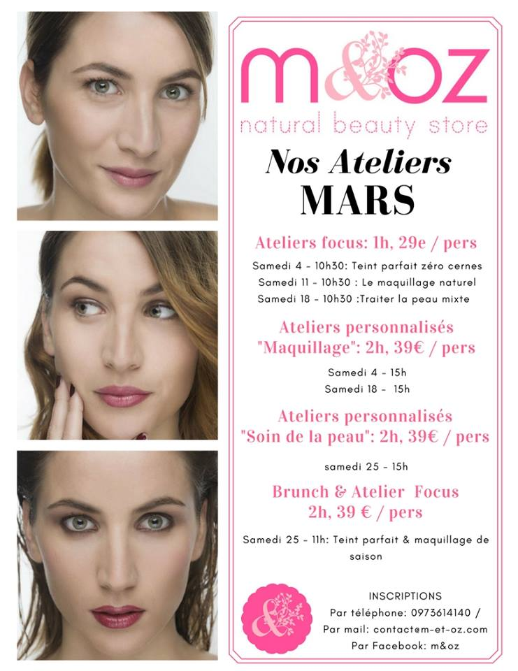 atelier maquillage soin de la peau m&oz