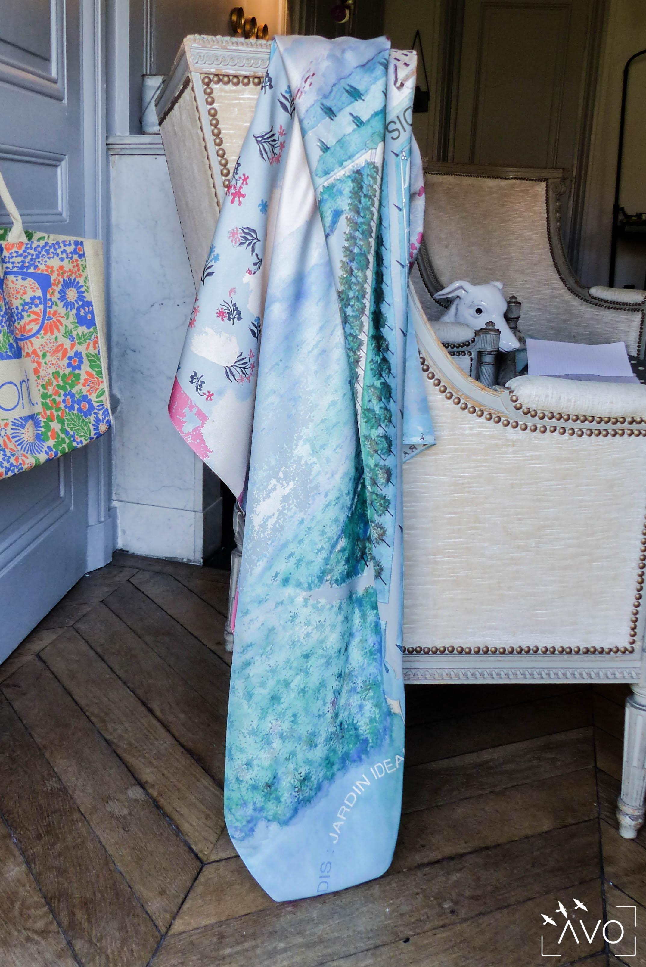 lso créations foulards lyon soie détail histopire poésie couleur beau