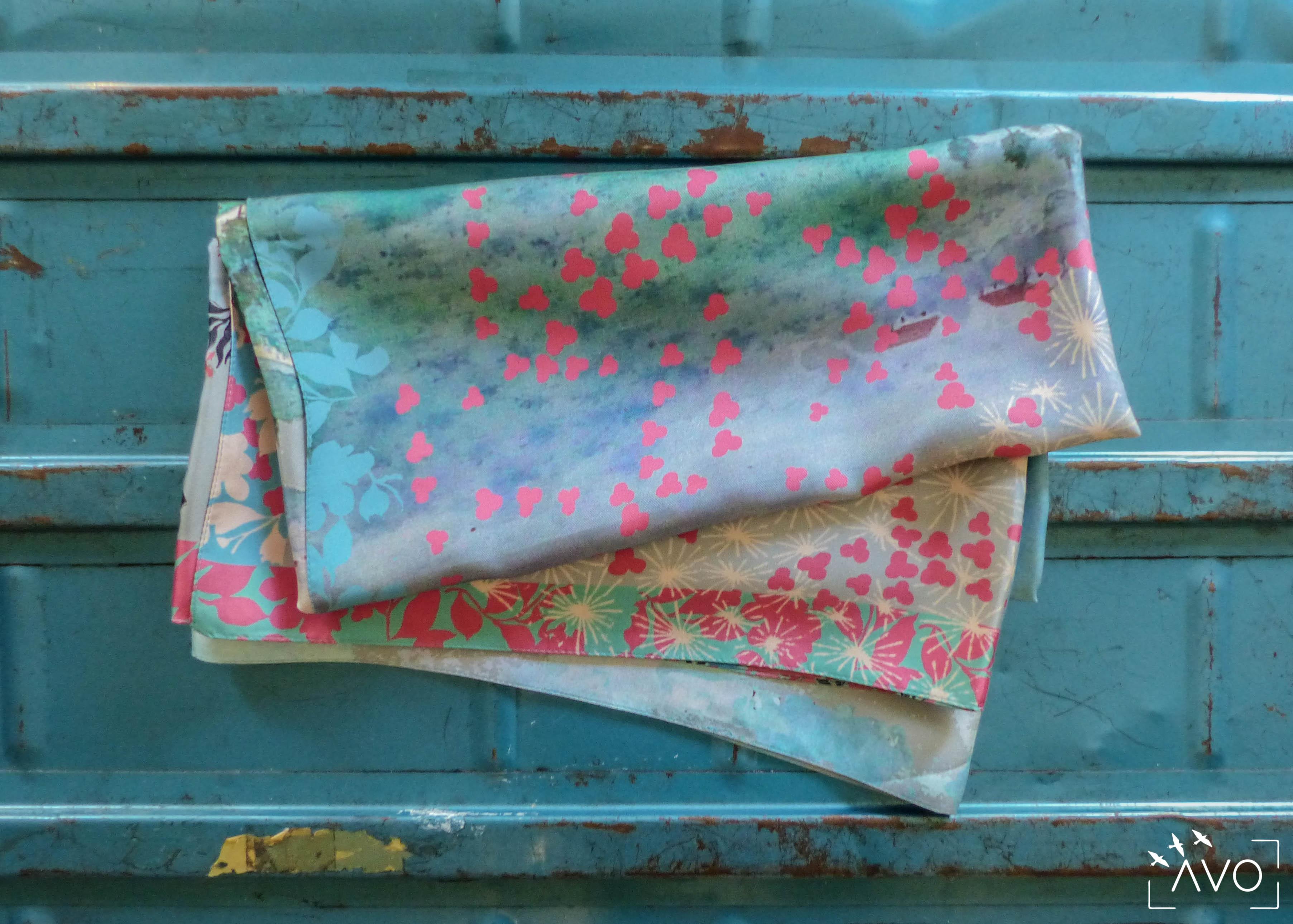 lso créations foulards lyon soie détail histopire poésie couleur fleuri