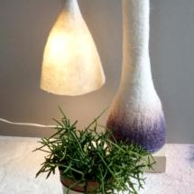 atelier murielle romera feutre création créateurs laine pots luminaire