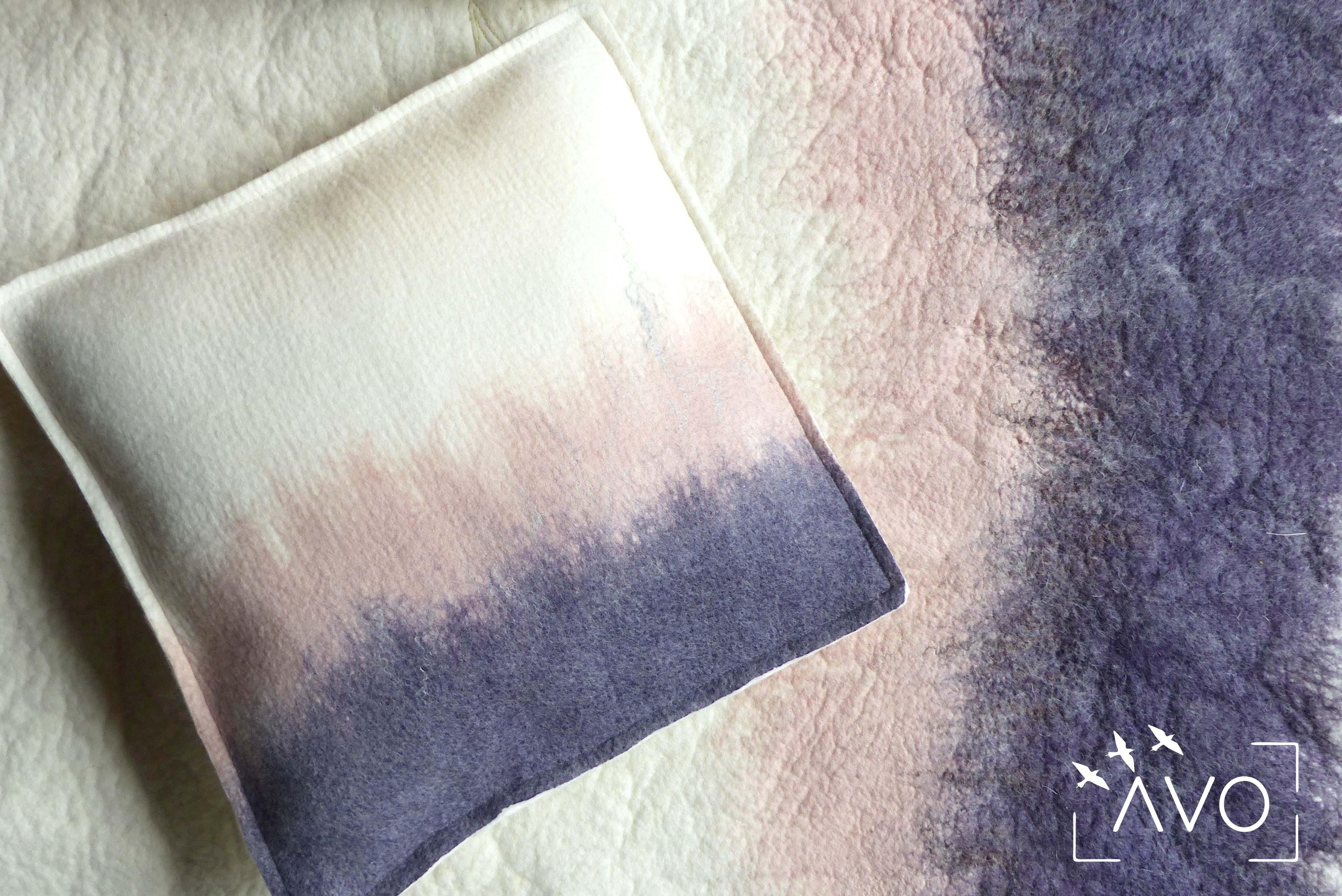 atelier murielle romera feutre création créateurs laine pots luminaire coussin