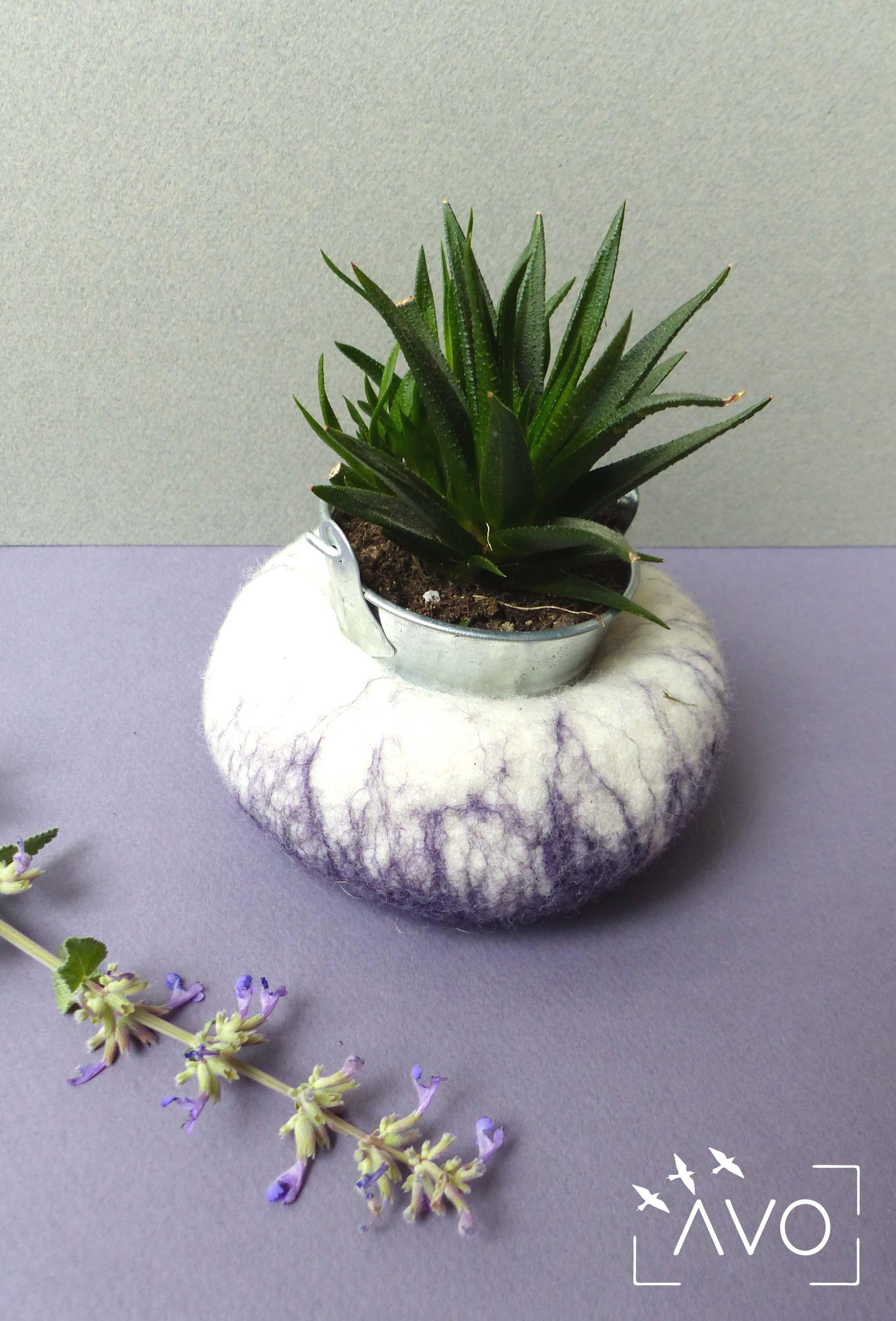 pots fleurs feutre