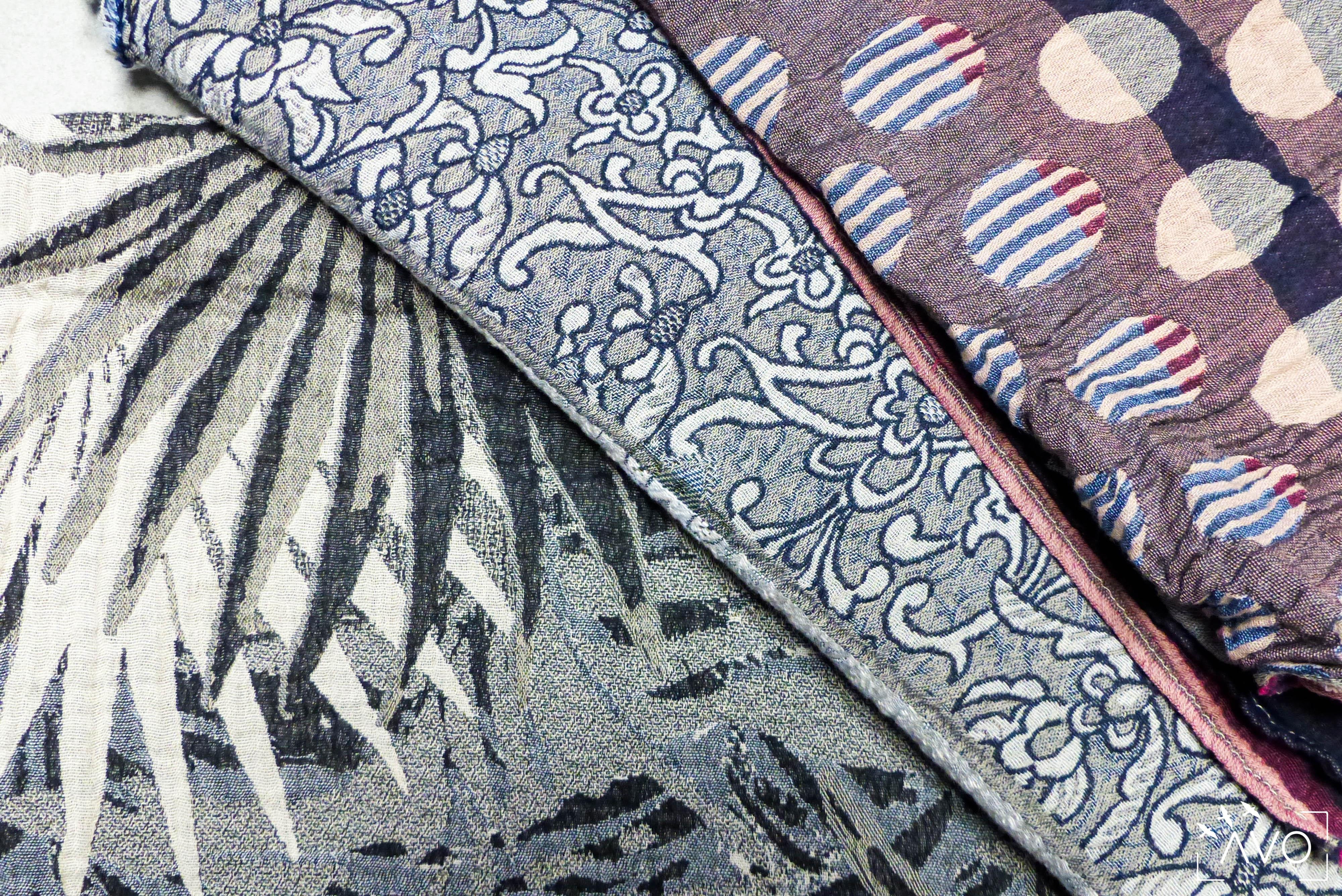 étole Létol foulard madeinfrance charlieu loire motif fleur géométrique beau dessin détail zoom motif