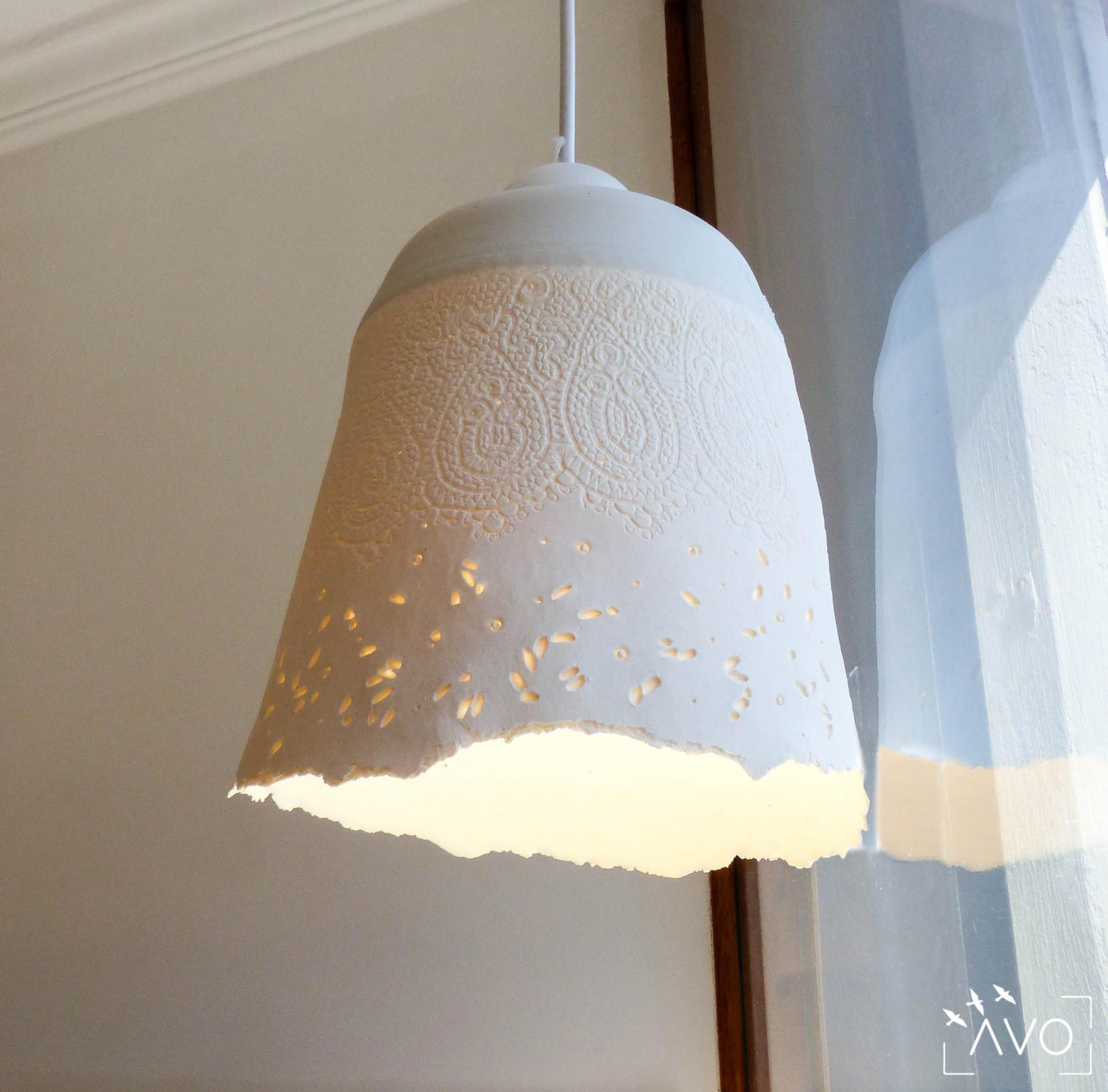 céramique porcelaine st pierre d'allevard luminaire riz grain suspensions