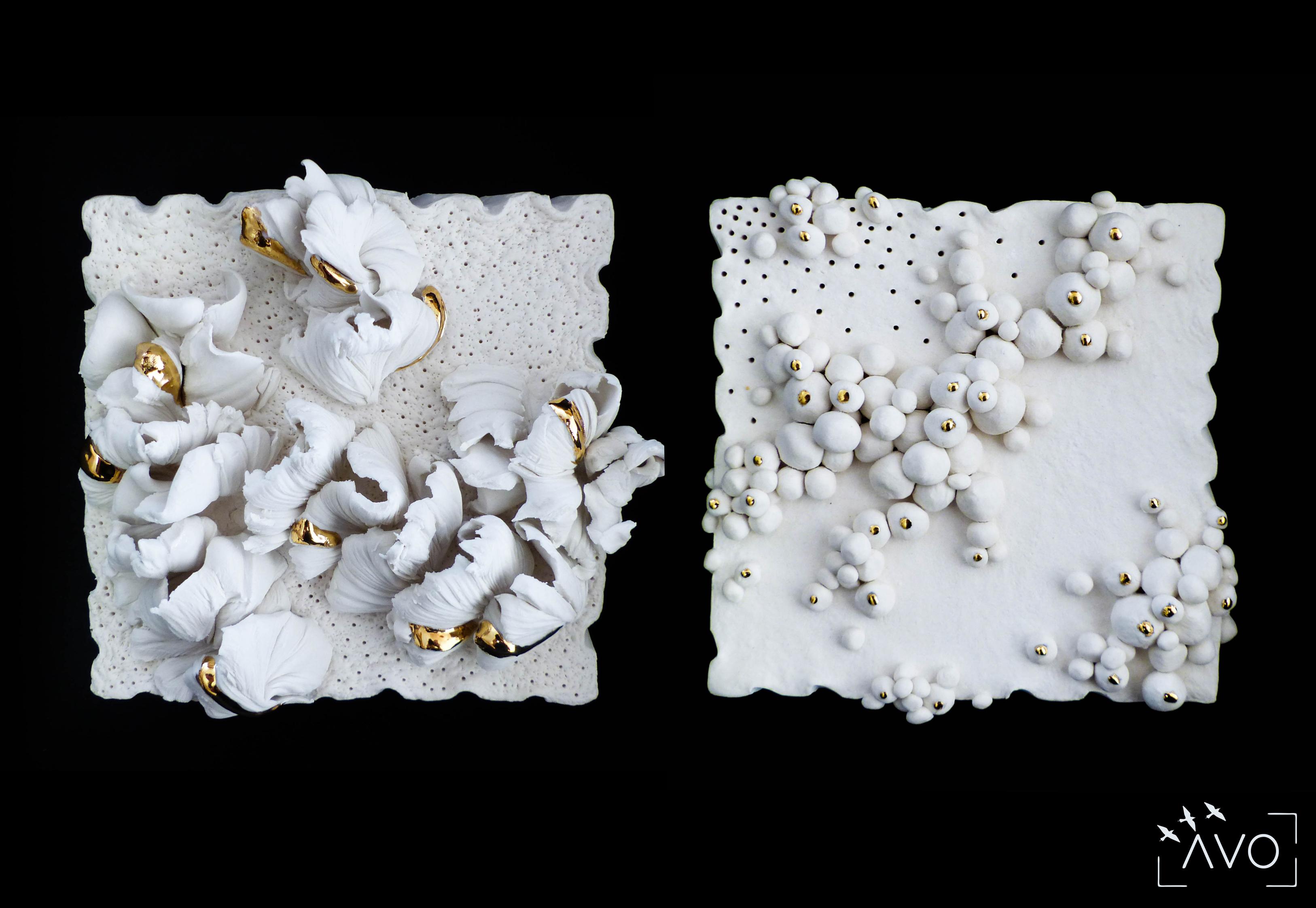 les carrés céramique porcelaine st pierre d'allevard stage cours atelier papier céramique art corail paysage mer